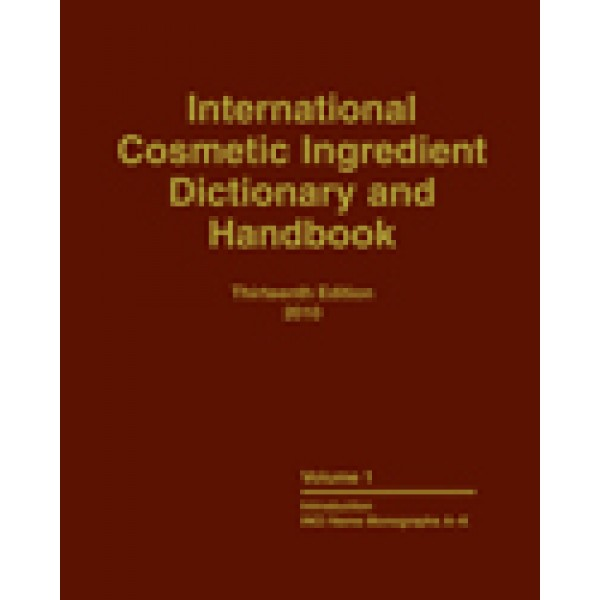 International Cosmetic Ingredient Dictionary  and Handbook, 13th Edition